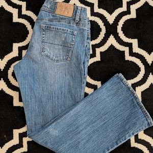 👖AE Artist medium wash slight distressing jeans